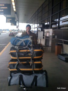 Seattle - Tacoma Airport 170lbs of gear!