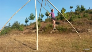 These swings are all over the country side - had to stop